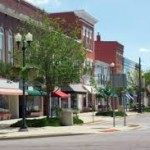 Riverton Downtown stock photo