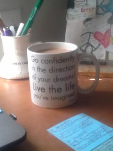 Go Confidently Mug on Desk