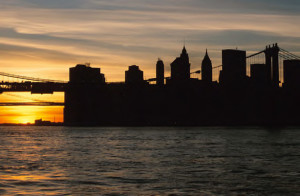 Sunset Downtown NYC Skyline